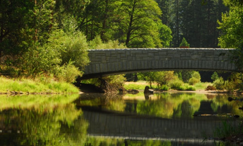 The Stoneman Bridge over the Merced River