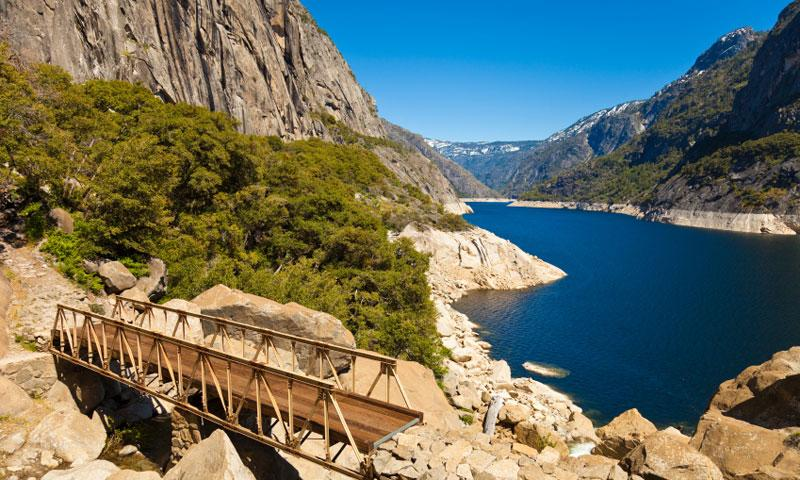 Hetch Hetchy Reservoir near Yosemite