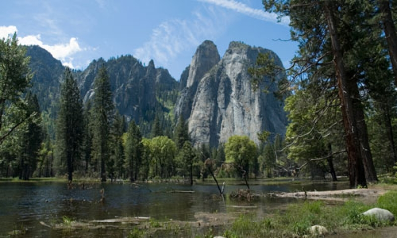 Cathedral Rocks in Yosemite National Park