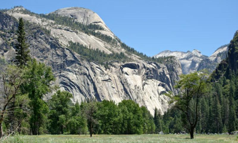 The North Dome and Royal Arches in Yosemite Valley