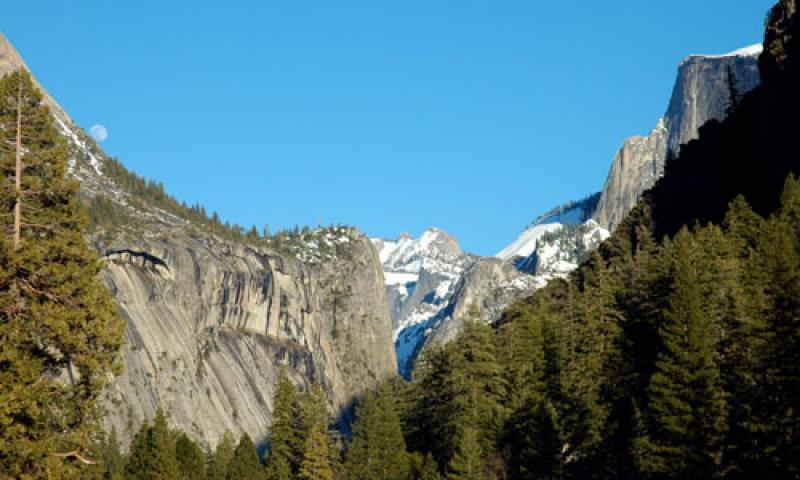 The Royal Arches in Yosemite Valley