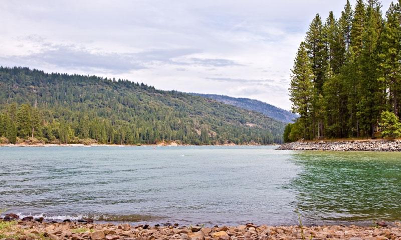 Bass Lake in Sierra Naitonal Forest