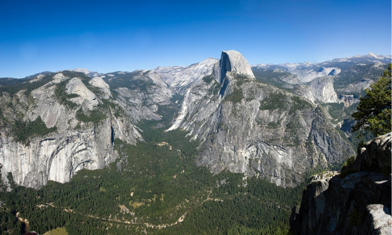 Half Dome from Glacier Point in Yosemite