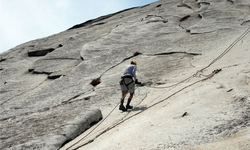 Climbing Half Dome in Yosemite National Park