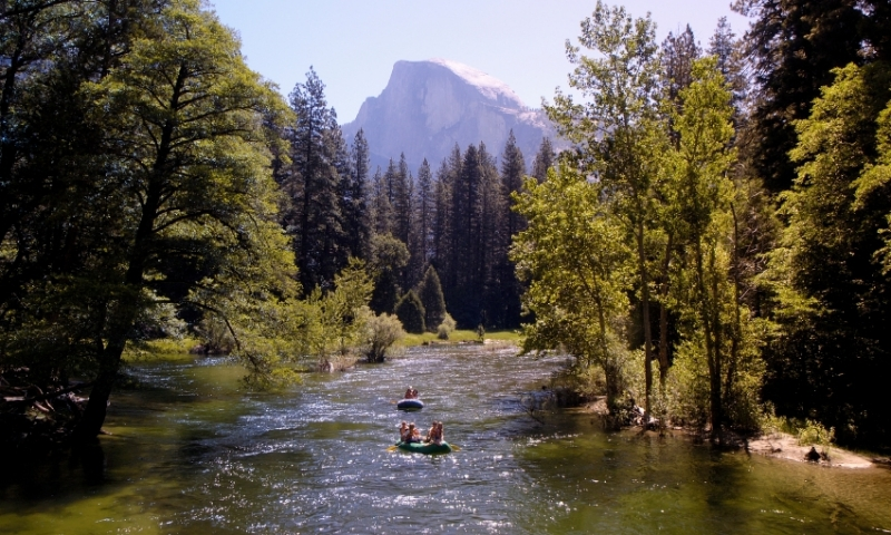 Rafting the Merced River in Yosemite National Park