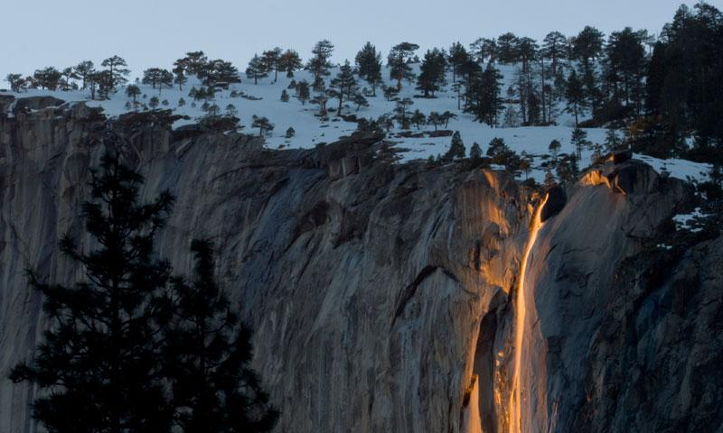 Horsetail Falls in Yosemite National Park