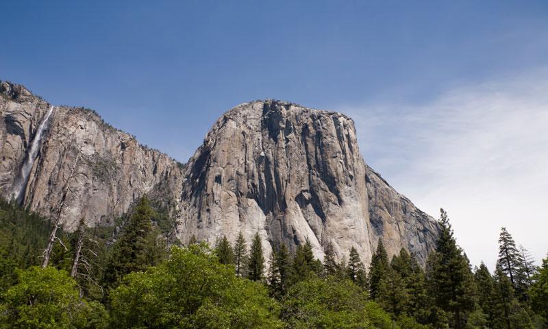 Ribbon Falls near El Capitan in Yosemite