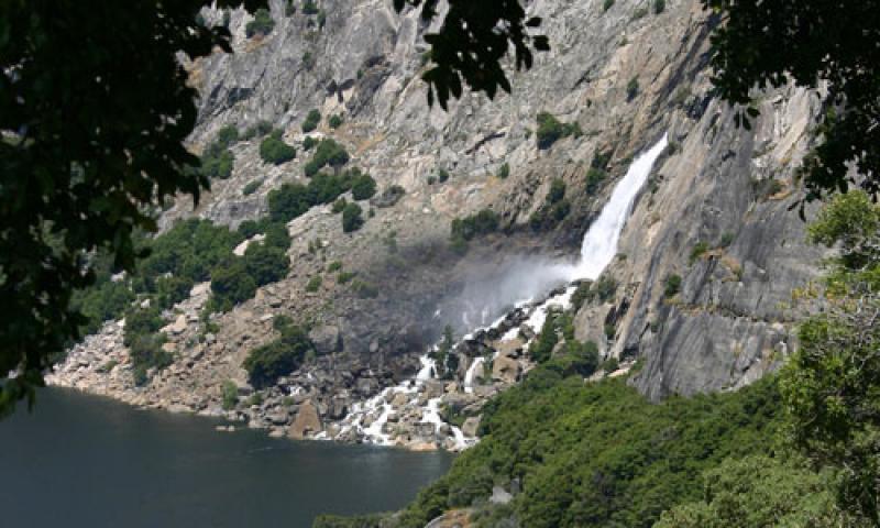 Wapama Falls in Yosemite National Park