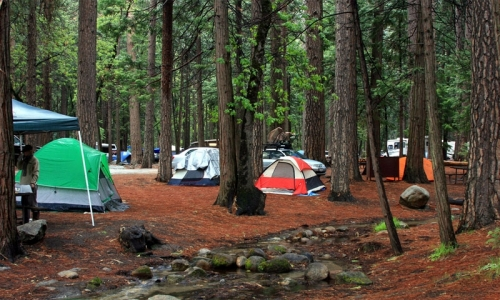 Upper pines campground yosemite camping alltrips for Yosemite park camping cabins