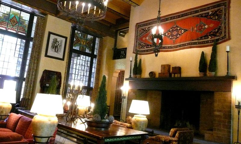 Lobby at Ahwahnee Hotel in Yosemite