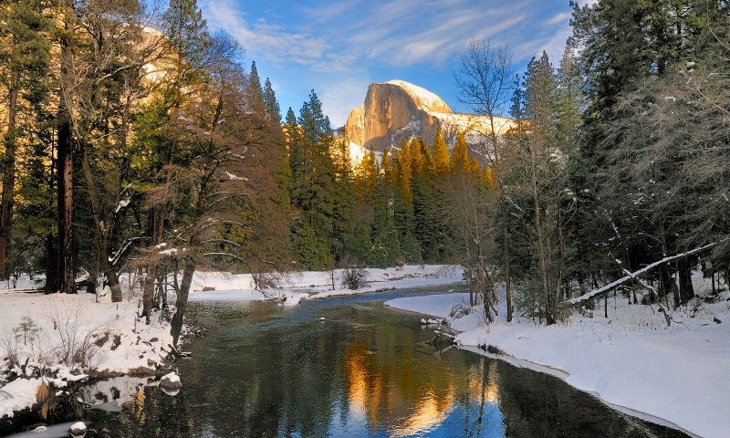 Merced River and Half Dome in Yosemite